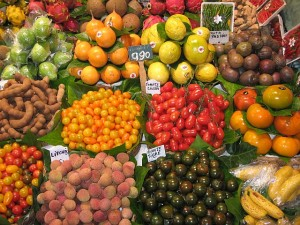 La Boqueria produce