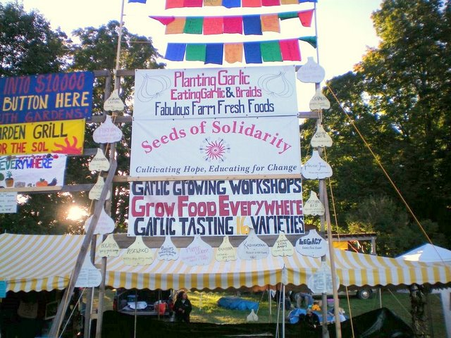 Garlic Festival Sign