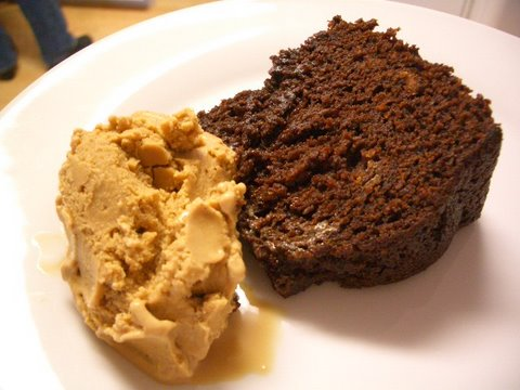 Stout Cake and Ice Cream