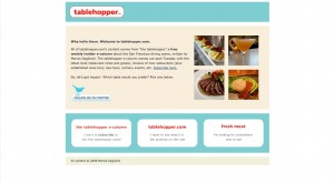 Table Hopper Home Page