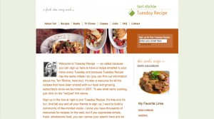 Tuesday Recipe Home Page