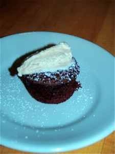 Mexican Chocolate Souffle with Soft Cinnamon Whipped Cream