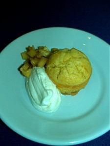 Mini Apple Upside-Down Cornmeal Cakes