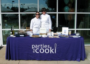 Parties That Cook cooking demo table