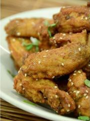 Smaller Sweet and Sour Korean Fried Chicken Wings