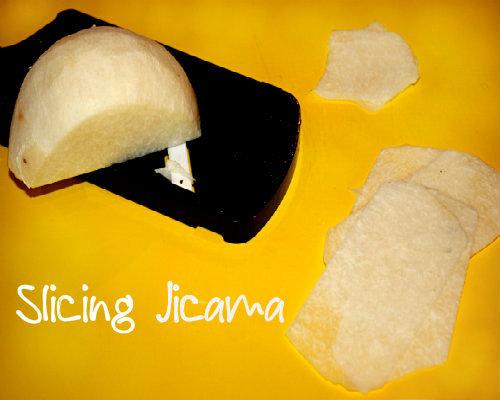 Slicing Jicama